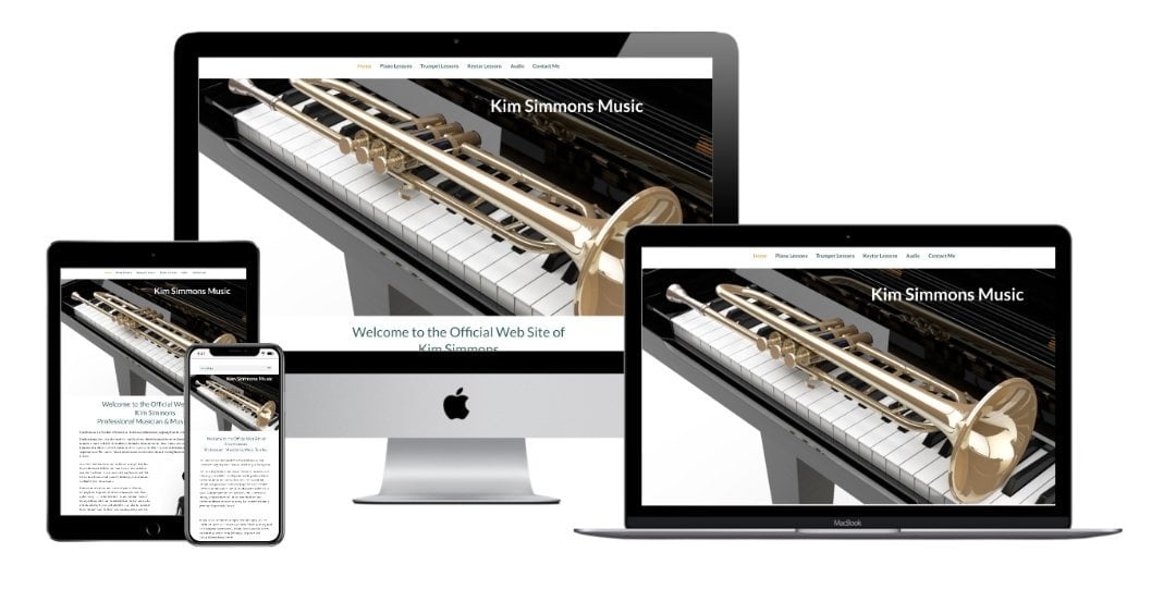Kim simmons music website mockup